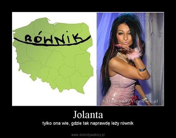 Jolanta – tylko ona wie, gdzie tak naprawdę leży równik