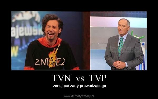TVN  vs  TVP –  żenujące żarty prowadzącego