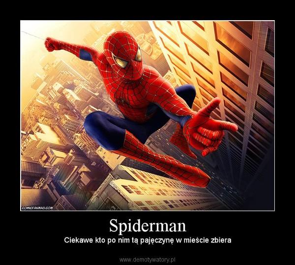 Spiderman –  Ciekawe kto po nim tą pajęczynę w mieście zbiera