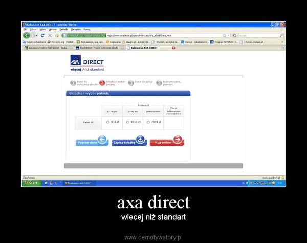 axa direct – wiecej niż standart