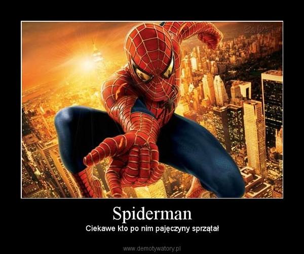 Spiderman – Ciekawe kto po nim pajęczyny sprzątał