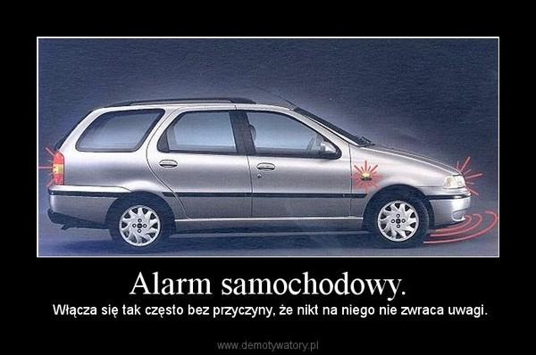 Alarm samochodowy. –  Włącza się tak często bez przyczyny, że nikt na niego nie zwraca uwagi.