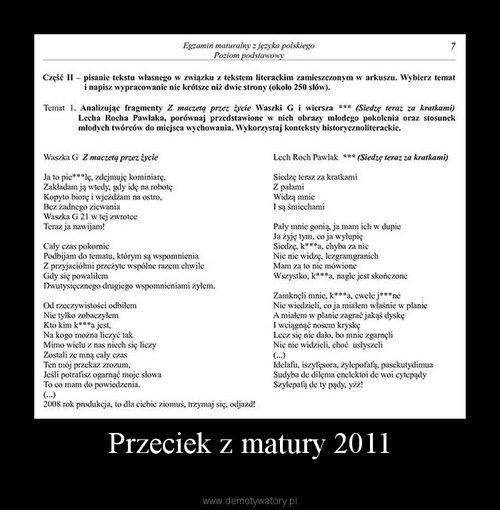 Przeciek z matury 2011