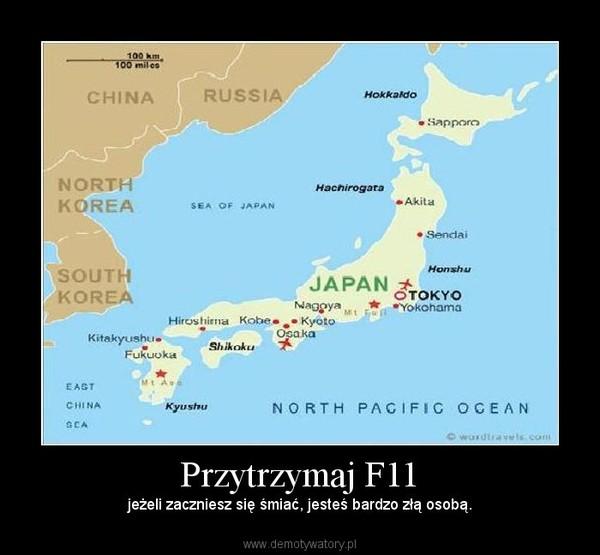 Przytrzymaj F11 – jeżeli zaczniesz się śmiać, jesteś bardzo złą osobą.