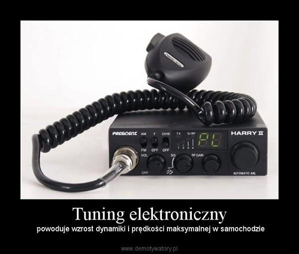 Tuning elektroniczny – powoduje wzrost dynamiki i prędkości maksymalnej w samochodzie