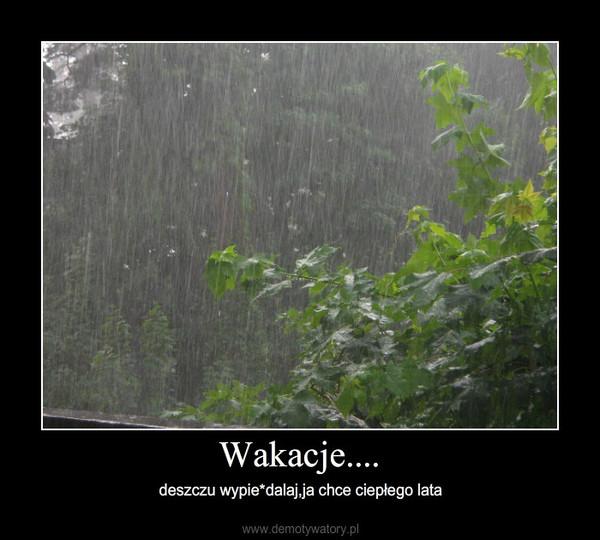 Wakacje.... – deszczu wypie*dalaj,ja chce ciepłego lata