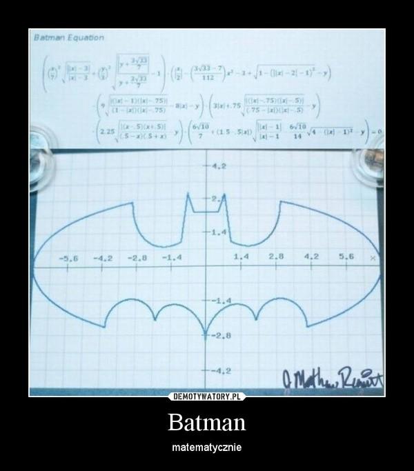 Batman – matematycznie