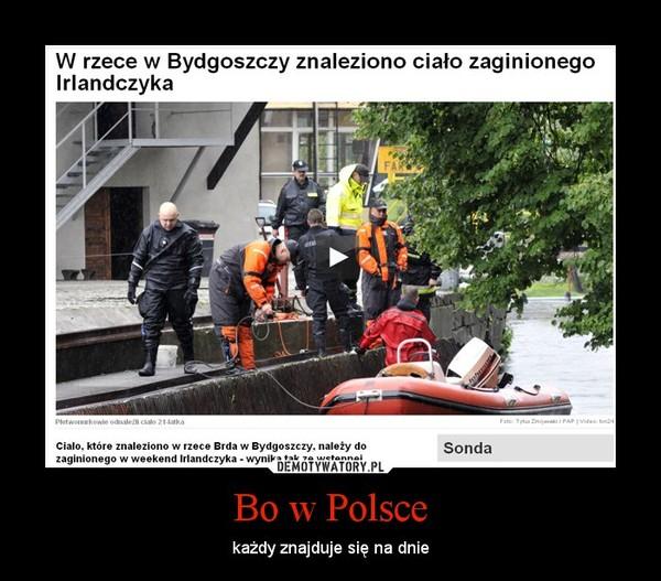 Bo w Polsce – każdy znajduje się na dnie
