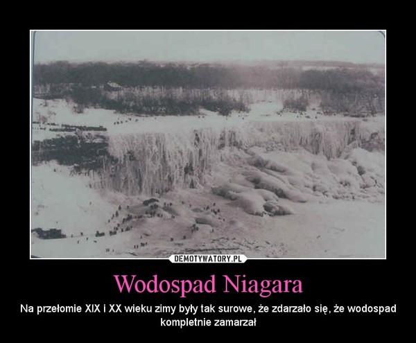 Wodospad Niagara – Na przełomie XIX i XX wieku zimy były tak surowe, że zdarzało się, że wodospad kompletnie zamarzał