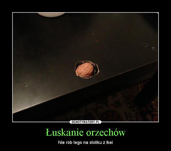 Łuskanie orzechów – Nie rób tego na stoliku z Ikei