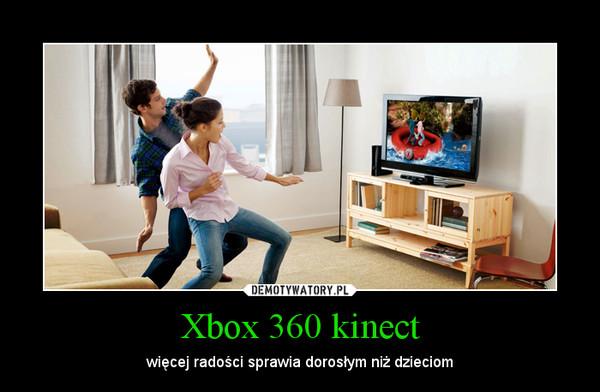 Xbox 360 kinect – więcej radości sprawia dorosłym niż dzieciom