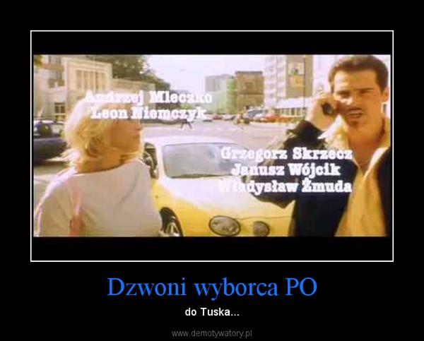Dzwoni wyborca PO – do Tuska...