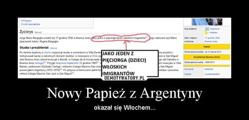 Nowy Papież z Argentyny