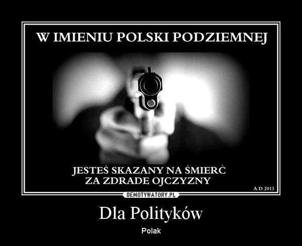Dla Polityków – Polak