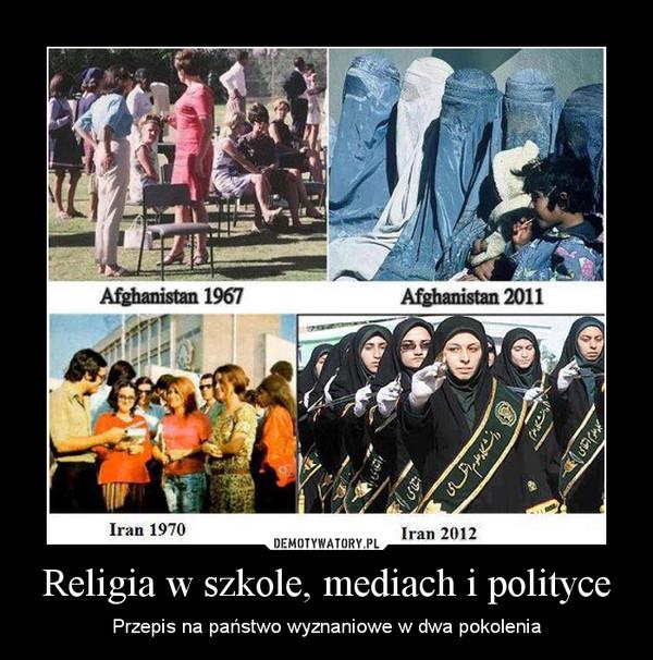 Religia w szkole, mediach i polityce – Przepis na państwo wyznaniowe w dwa pokolenia