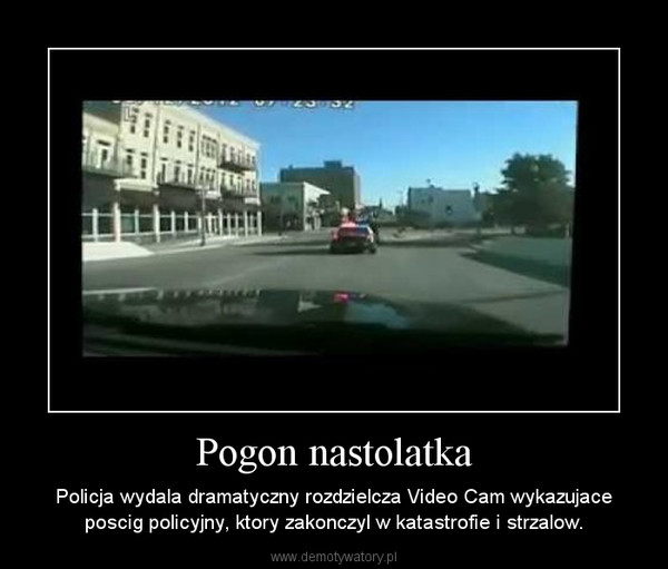 Pogon nastolatka – Policja wydala dramatyczny rozdzielcza Video Cam wykazujace poscig policyjny, ktory zakonczyl w katastrofie i strzalow.