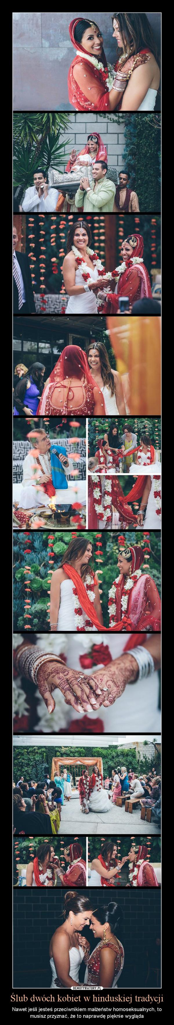 Ślub dwóch kobiet w hinduskiej tradycji – Nawet jeśli jesteś przeciwnikiem małżeństw homoseksualnych, to musisz przyznać, że to naprawdę pięknie wygląda