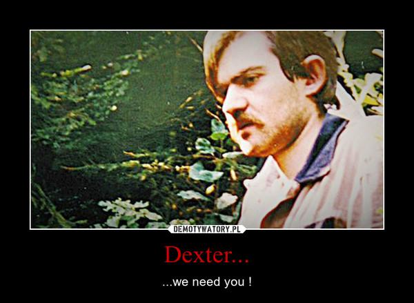 Dexter... – ...we need you !