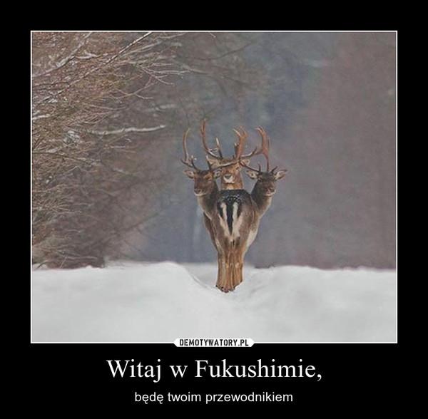 Witaj w Fukushimie, – będę twoim przewodnikiem