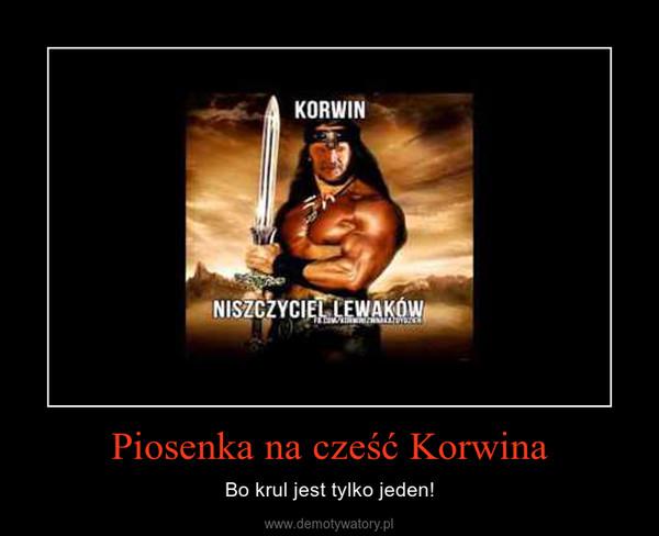 Piosenka na cześć Korwina – Bo krul jest tylko jeden!