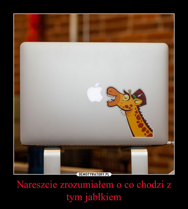 Nareszcie zrozumiałem o co chodzi z tym jabłkiem –