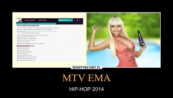 MTV EMA – HIP-HOP 2014