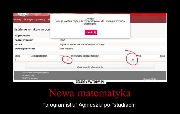 """Nowa matematyka – """"programistki"""" Agnieszki po """"studiach"""""""