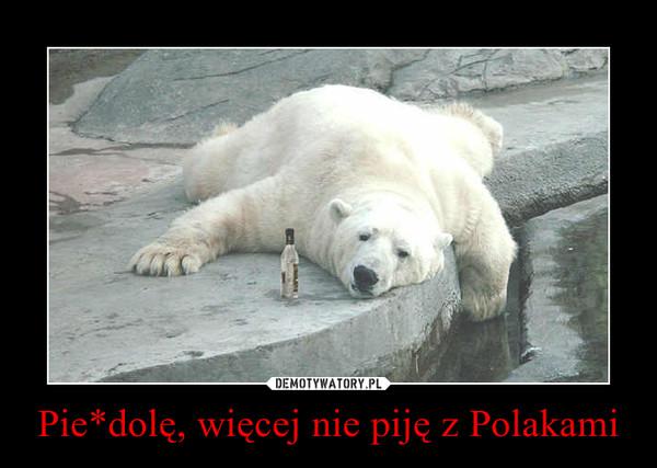 Pie*dolę, więcej nie piję z Polakami –