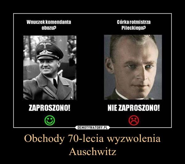 Obchody 70-lecia wyzwolenia Auschwitz –