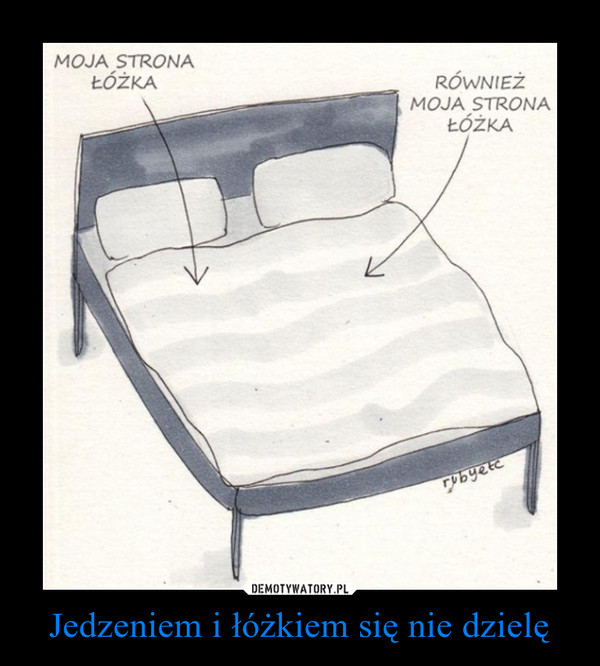 Jedzeniem i łóżkiem się nie dzielę –