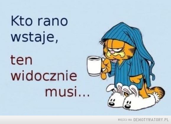 Kto rano wstaje... –