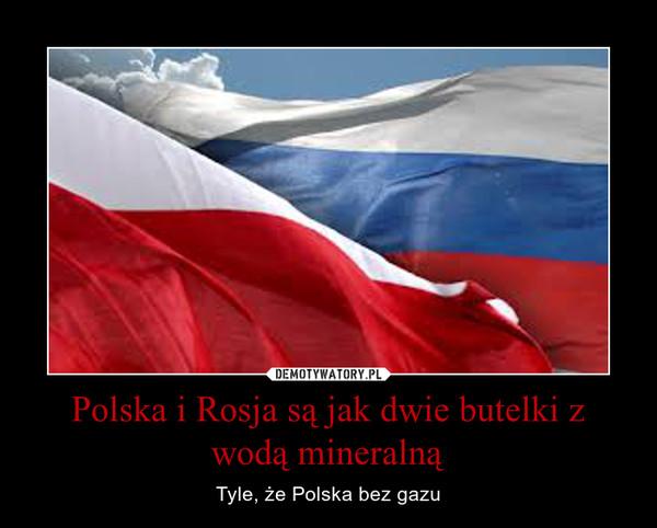 Polska i Rosja są jak dwie butelki z wodą mineralną – Tyle, że Polska bez gazu