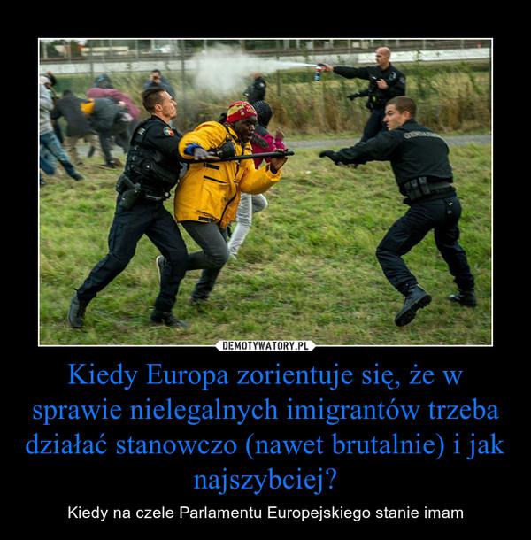 Kiedy Europa zorientuje się, że w sprawie nielegalnych imigrantów trzeba działać stanowczo (nawet brutalnie) i jak najszybciej? – Kiedy na czele Parlamentu Europejskiego stanie imam