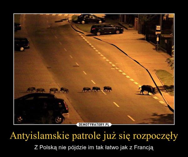 Antyislamskie patrole już się rozpoczęły – Z Polską nie pójdzie im tak łatwo jak z Francją
