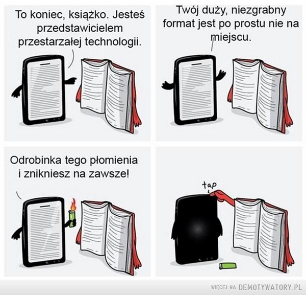 Książka vs tablet –