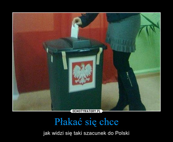 Płakać się chce – jak widzi się taki szacunek do Polski