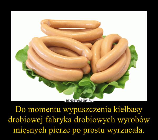 Do momentu wypuszczenia kiełbasy drobiowej fabryka drobiowych wyrobów mięsnych pierze po prostu wyrzucała. –