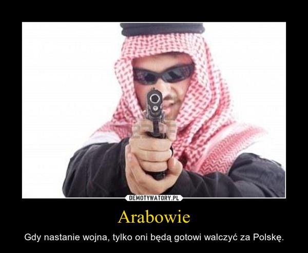 Arabowie – Gdy nastanie wojna, tylko oni będą gotowi walczyć za Polskę.