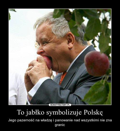 To jabłko symbolizuje Polskę