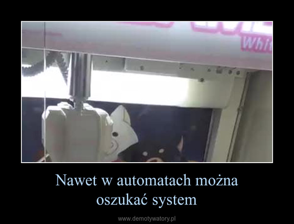 Nawet w automatach możnaoszukać system –