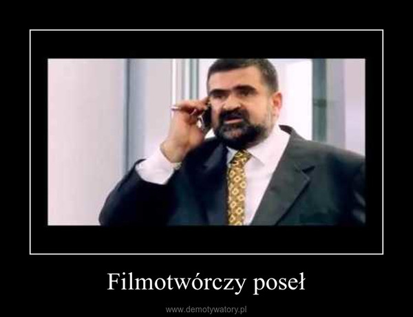 Filmotwórczy poseł –
