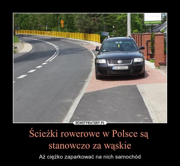 Ścieżki rowerowe w Polsce są stanowczo za wąskie – Aż ciężko zaparkować na nich samochód