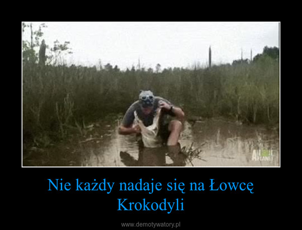 Nie każdy nadaje się na Łowcę Krokodyli –