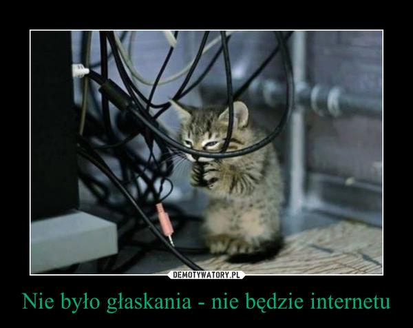 Nie było głaskania - nie będzie internetu –