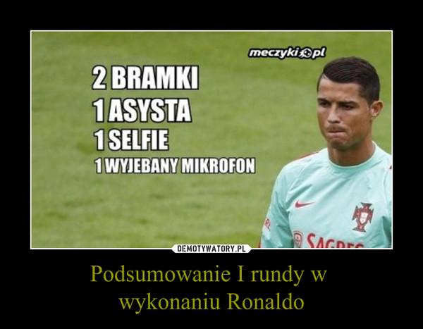 Podsumowanie I rundy w wykonaniu Ronaldo –
