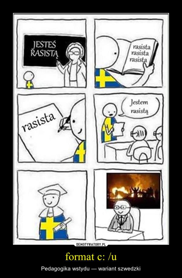 format c: /u – Pedagogika wstydu — wariant szwedzki