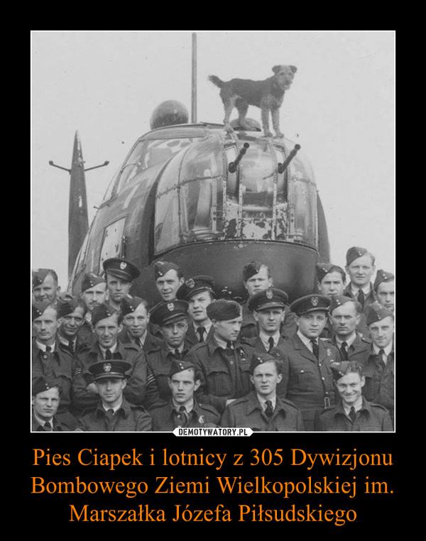 Pies Ciapek i lotnicy z 305 Dywizjonu Bombowego Ziemi Wielkopolskiej im. Marszałka Józefa Piłsudskiego –