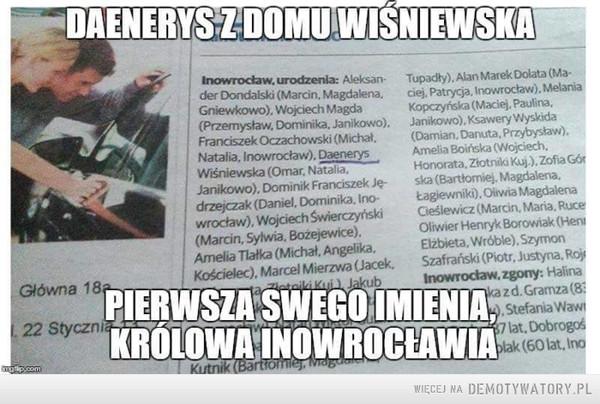 Daenerys z Inowrocławia –