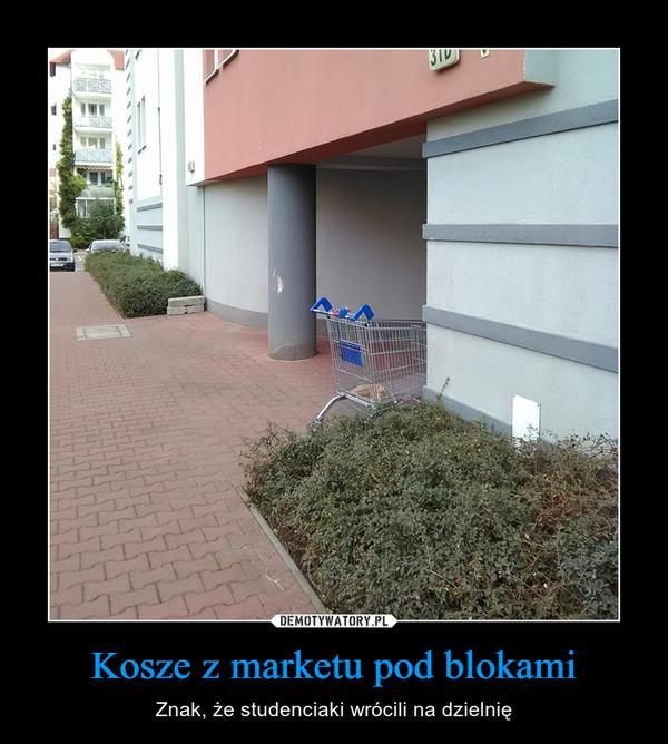 Kosze z marketu pod blokami – Znak, że studenciaki wrócili na dzielnię
