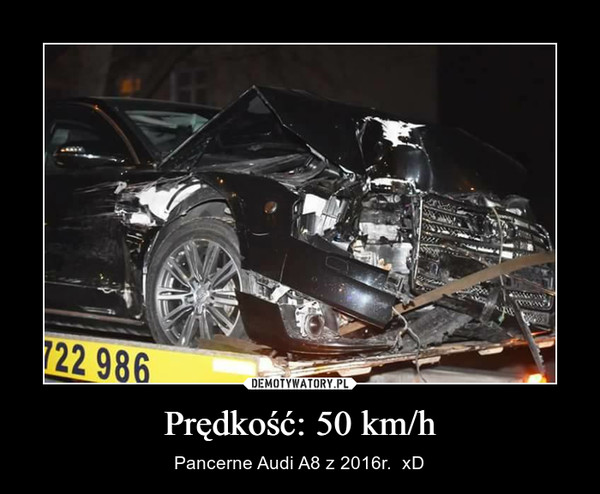 Prędkość: 50 km/h – Pancerne Audi A8 z 2016r.  xD